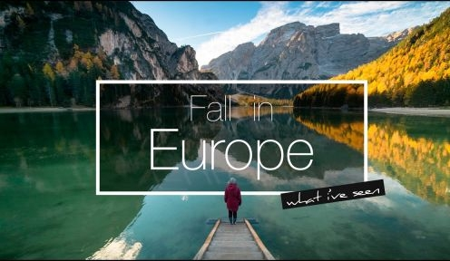 What I've seen: Fall in Europe